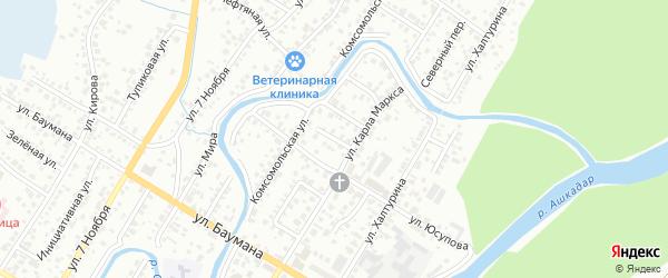 Переулок Герцена на карте Стерлитамака с номерами домов