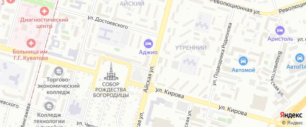Айская улица на карте Уфы с номерами домов