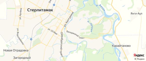 Карта Ашкадарского сельсовета республики Башкортостан с районами, улицами и номерами домов
