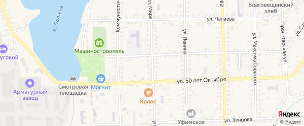 Улица Мира на карте Благовещенска с номерами домов