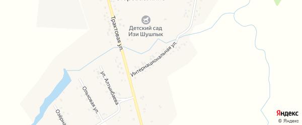 Интернациональная улица на карте деревни Староваськино с номерами домов
