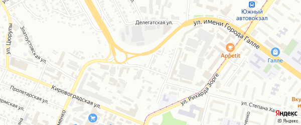Малая Гражданская улица на карте Уфы с номерами домов