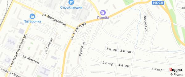 Речной 2-й переулок на карте Стерлитамака с номерами домов