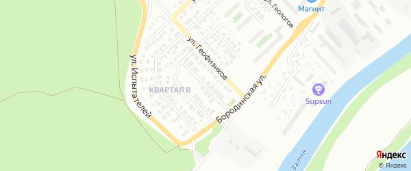 Петровский переулок на карте Уфы с номерами домов