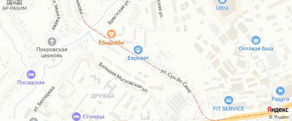 Улица Сун-Ят-Сена на карте Уфы с номерами домов