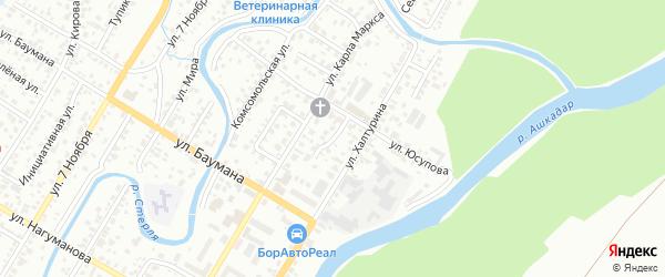 Карла Маркса 2-й переулок на карте Стерлитамака с номерами домов