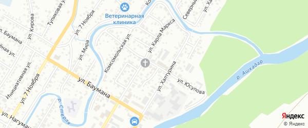 Улица Юсупова на карте Стерлитамака с номерами домов