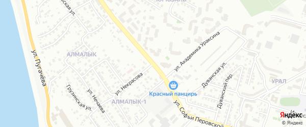 Улица Некрасова на карте Уфы с номерами домов
