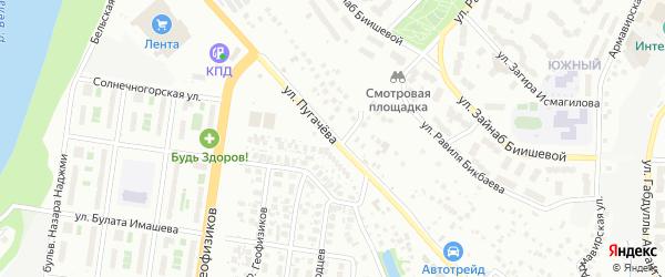 Улица Пугачева на карте Уфы с номерами домов