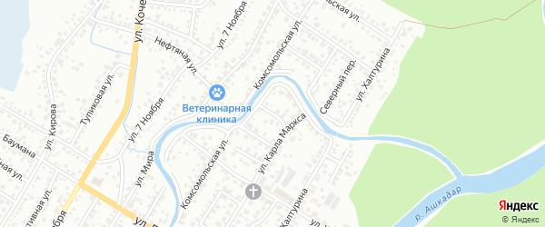 Улица Достоевского на карте Стерлитамака с номерами домов