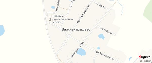 Улица Гафури на карте деревни Верхнекарышево с номерами домов