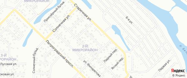 Светлый переулок на карте Салавата с номерами домов