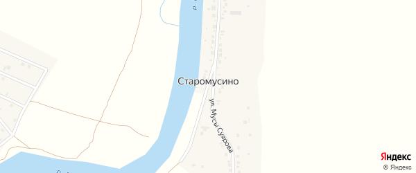 Улица Мусы Суярова на карте деревни Старомусино с номерами домов
