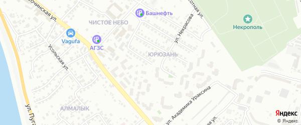Крымская улица на карте Уфы с номерами домов
