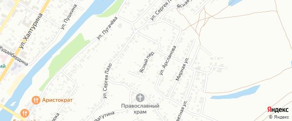 Ясный переулок на карте Стерлитамака с номерами домов