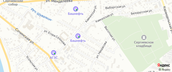 Белореченская улица на карте Уфы с номерами домов