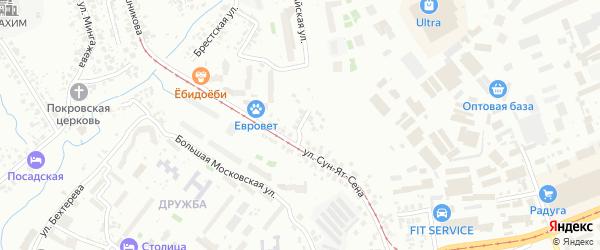 Абхазская улица на карте Уфы с номерами домов