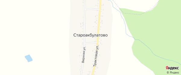 Верхняя улица на карте деревни Староакбулатово с номерами домов