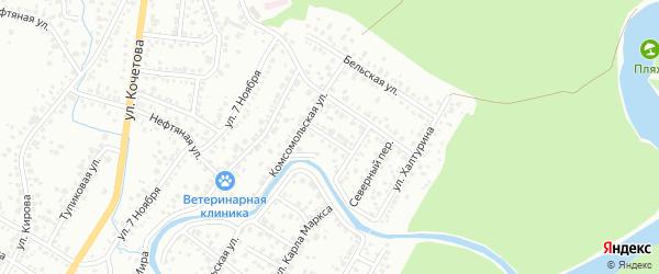Улица Чернышевского на карте Стерлитамака с номерами домов