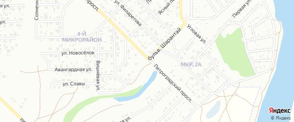 Бульвар Шарантай на карте Салавата с номерами домов