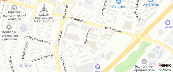 Ленская улица на карте Уфы с номерами домов