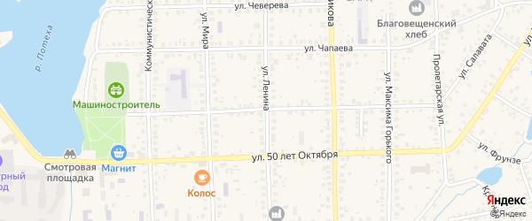 Улица Ленина на карте Благовещенска с номерами домов