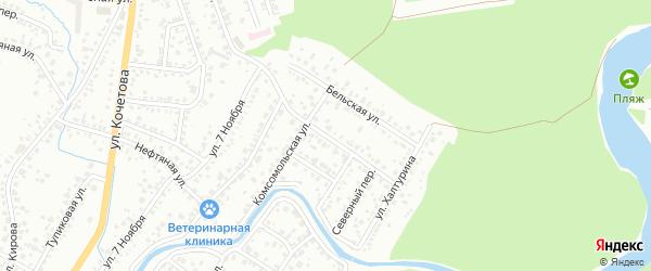 Северная улица на карте Стерлитамака с номерами домов