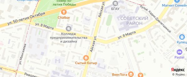 Улица 8 Марта на карте Уфы с номерами домов