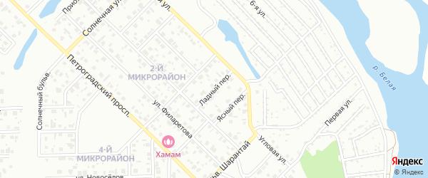 Ладный переулок на карте Салавата с номерами домов