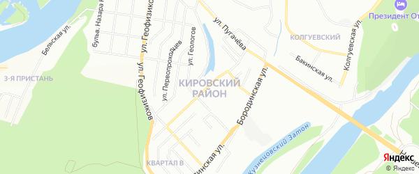 СНТ Приозерный на карте Кировского района с номерами домов