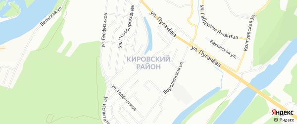 СНТ Косметика на карте Кировского района с номерами домов