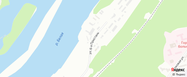 Пристань 6-я улица на карте Уфы с номерами домов