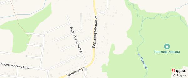 Верхнепрудовая улица на карте Благовещенска с номерами домов
