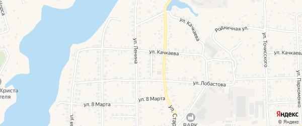 Тупик Качкаева на карте Благовещенска с номерами домов