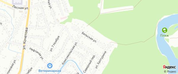 Бельская улица на карте Стерлитамака с номерами домов