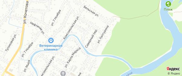 Северный переулок на карте Стерлитамака с номерами домов