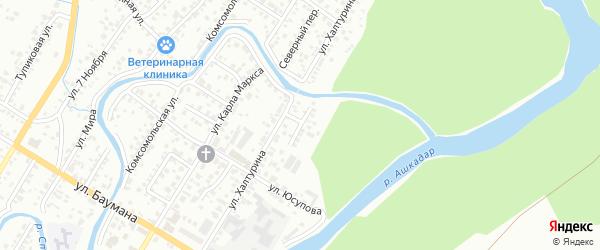 Переулок Халтурина на карте Стерлитамака с номерами домов