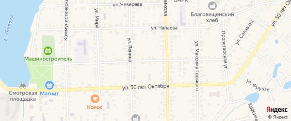 Тупик Баранова на карте Благовещенска с номерами домов