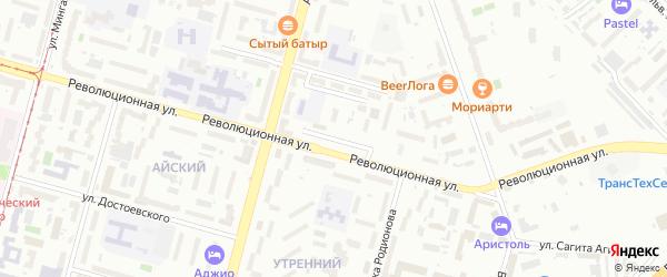 Акмолинская улица на карте Уфы с номерами домов