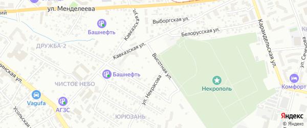Высотная улица на карте Уфы с номерами домов