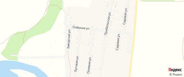 Полевая улица на карте деревни Самойловки с номерами домов