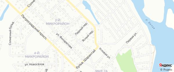Ясный переулок на карте Салавата с номерами домов