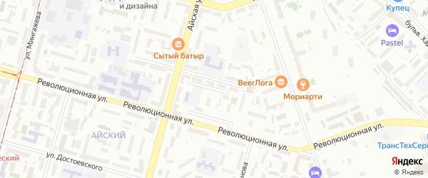 Пионерская улица на карте Уфы с номерами домов