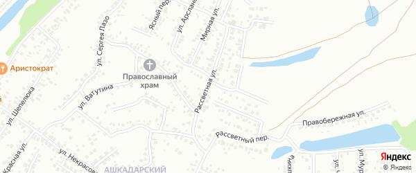 Рассветная улица на карте Стерлитамака с номерами домов