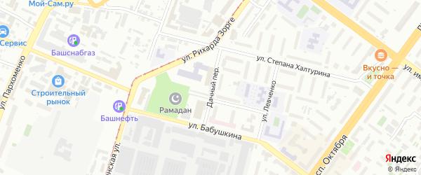 Дачный переулок на карте Уфы с номерами домов