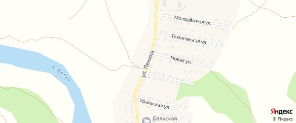 Улица Ленина на карте Первомайской деревни с номерами домов