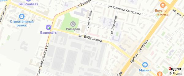 Улица Бабушкина на карте Уфы с номерами домов