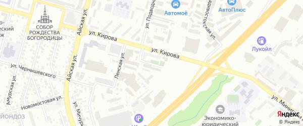 Камчатский переулок на карте Уфы с номерами домов