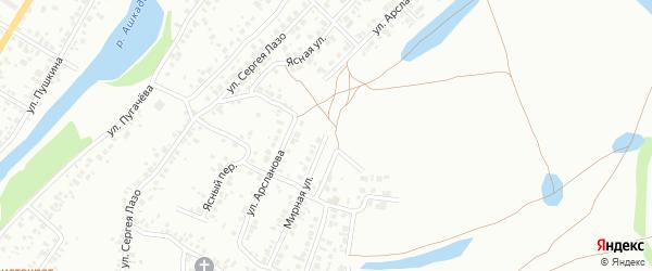 Мирная улица на карте Стерлитамака с номерами домов