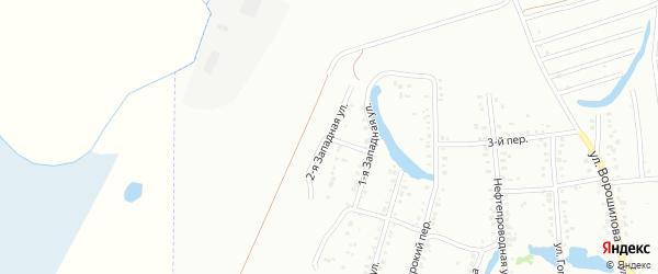 Западная 2-я улица на карте Ишимбая с номерами домов